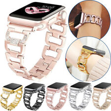 D Bling Bling For Apple Watch 5 4 3 2 Metal Wrist Band Strap Bracelet Steel
