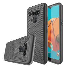For LG K51/Q51 Hybrid TPU Rugged Slim Phone Case Cover / Glass Screen Protector