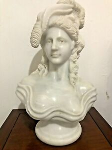 Hand Carved Marble Bust Victorian French Lady Woman Sculpture statue 55cm 35KG