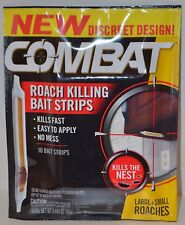 COMBAT ROACH KILLING BAIT STRIPS KILLS NEST DISCREET BUG TRAP INDOOR LARGE SMALL