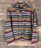 Vintage Chico's Design Jacket Southwest Tribal Print Womens Size 2