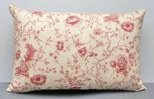 Kate Forman Designer Cushion Cover Antoinette Floral Toile Linen 40 x 60cm