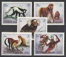 Timbres Animaux Primates Singes Fujeira 133 ** lot 26095