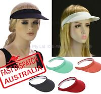 Clip On Outdoor Travel Sweatband Sun Block Headwear Hat Medium Peak Brim Visor