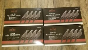 Edge innovative hunting  Dove Decoy Clip On Foam Lot Of 16 Total Decoys New
