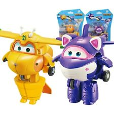 ABS Mini Super Wings Deformation Mini Airplane ABS Robot toy Action Figures Supe
