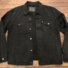 Levi's Trucker Denim Jean Jacket - Black - Modern Fit - 72334 - Size Large