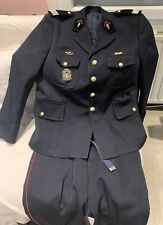 Uniforme de capitaine de sapeur-pompier en drap bleu marine