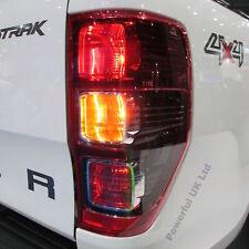Rojo/Negro Cola Trasero Luz Trasera Ford Ranger Wildtrak Lámpara O/S 2012 Derecho RH TDCi