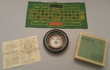 "H. Baron Co Vintage 8"" De Luxe Roulette Wheel~ Felt Mat, Ball, Instructions, Box"