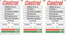 Adesivo Cambio Olio 3 pz. Castrol