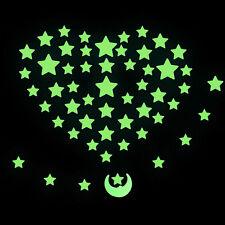 Adesivi da Parete Notte Stellata Luna Fluorescente Decorazione Camera da Letto