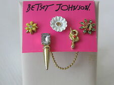 Betsey Johnson Gold-Tone Spike and Daisy Stud Earring Set