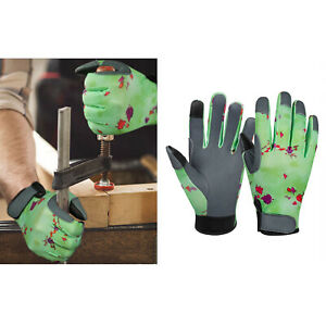 Garden Gloves Work Ladies Leather Breathable Protective Gifts for Women Men