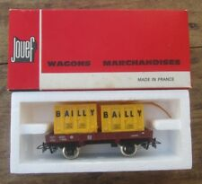 ANCIEN WAGON MARCHANDISE BAILLY JOUEF + BOITE 6450 HO