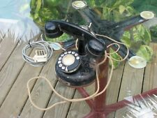 Vintage Antique French Telephone  w/Ringer Box 1933