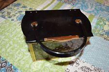vintage majestic black lace lucite small box purse handbag
