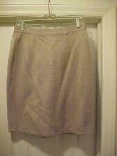 Women Size L Tan Herringbone Skirt Lined Knee Length Passports of Pier 1 Imports