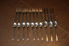 Stainless Silverware Flatware Set of 22 AS IS National Stainless Unknown Pattern