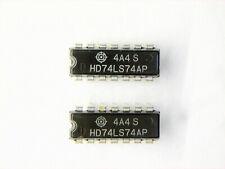 """HD74LS74AP  """"Original"""" Hitachi  14P DIP IC  2  pcs"""