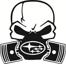 Skull Piston gas mask Decal Sticker Car subaru JDM Drift Hoon Turbo Stance WRX