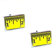 Tape Measure Cufflinks 1 Inch Dressmaker Taylor Fitter Present Gift Box
