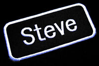 NAME TAG STEVE EMBROIDERED IRON ON PATCH + Free Shipping