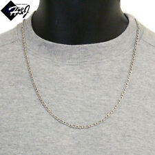 """24""""Men's Women's Stainless Steel 3mm Silver Figaro Link Chain Necklace*12grams"""
