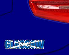 Glasgow Schottland Schriftzug Autoaufkleber Autosticker  4 Größen