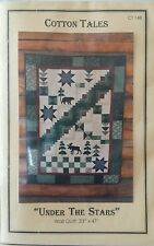 Under the Stars Wall Quilt Pattern by Cotton Tales 33x47 Moose Bear Wolf Trees