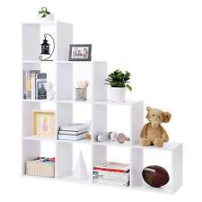Stufenregal 10 Fächer Regal Standregal Raumteiler Bücherregal Treppenregal Holz
