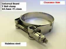 UNIVERSAL BRAND T BOLT CLAMP 63.5mm - 71.4mm S/S  (hose clips, clamps, pipe)