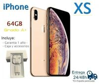 IPHONE XS DE 64GB DORADO REACONDICIONADO LIBRE  / GRADO A+ / CAJA Y ACCESORIOS