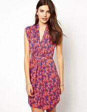 Viscose V Neck Short/Mini Tunic Dresses for Women