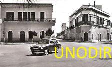 1953 RARA MORETTI 750 ALGER LE CAP su DISEGNO di G. MICHELOTTI FOTO SU CARTOLINA