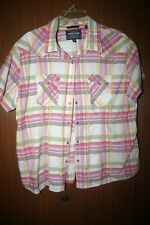 women equestrian short sleeve shirt rough stock pick checkerboard xxl cotton