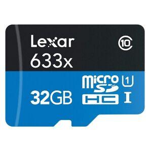Lexar High-Performance 633x 32GB microSDHC UHS-I Cards U3 A1 LSDMI32GBBAS633R