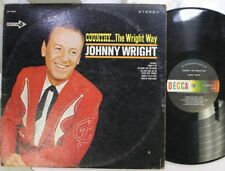 Country Lp Johnny Wright Country.. The Wright Way On Decca