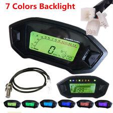 Universal Motorcycle LCD Digital Speedometer Odometer Gauge 7 Colors Backlight