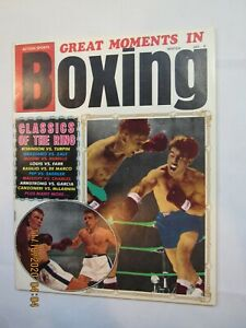 Vintage 1970 Great Moments in Boxing Magazine Zale vs. Graziano Action on Cover