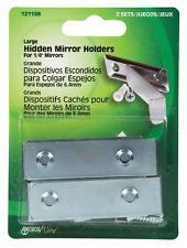 New! Hillman AnchorWire Steel Hidden Mirror Holder 2 pk 121156