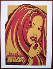 TAKING BACK SUNDAY My Chemical Romance Nottingham Emo Rock Concert mini Poster