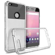 Hybrid Slim Fit Hard Back Cover Phone Case for Google Pixel Clear