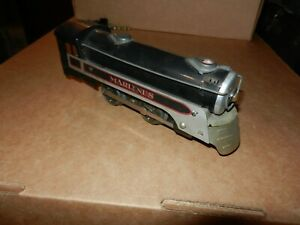 MARX Marlines Steam Locomotive, Black/Silver,  Electric,  Original