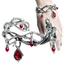 Alchemy Gothic Passion Cuff Bracelet Bangle Goth Emo Pewter Swarovski Jewellery