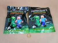 "New! Minecraft Series 1 Mystery Blind Bag 3"" Figure Hangers (Lot Of 2) JINX"