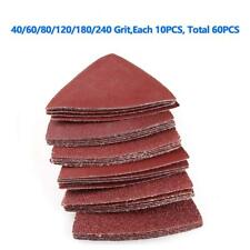 80 mm 40 60 80 120 180 240 Assorted Grits Sanding Pads Triangle Sanding Sheets