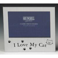 I love My Cat Satin silver photo frame-shudehill Giftware