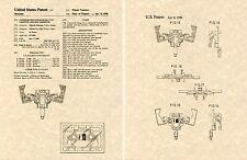 Transformers LASERBEAK G1 US Patent Art Print READY TO FRAME Matsuda 1983