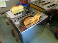 Vintage Proctor Silex 4 Slice Toaster Stainless Wood Grain USA Made WORKS T0098
